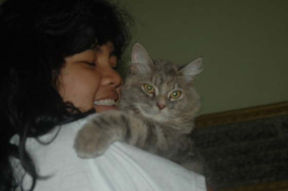 me with my little cat :)