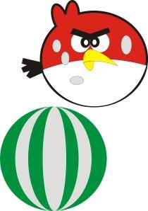 angry bird semangka
